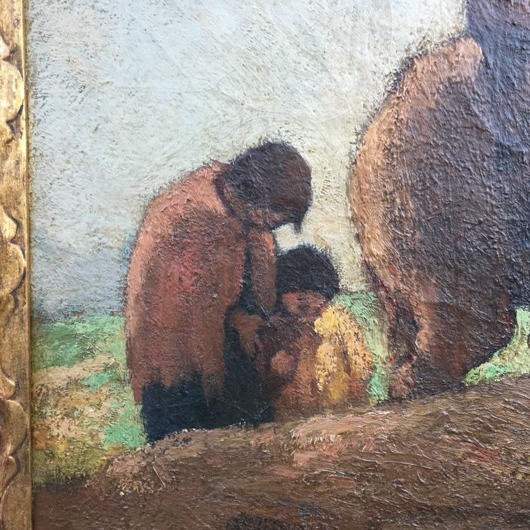 Traveling Family  - Impressionist Painting by Eugene Higgins