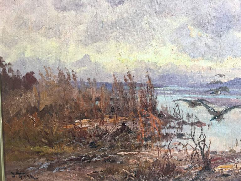 Ducks over the Marsh - Painting by John Fery