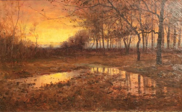 Twilight Shadows - Painting by George Schultz