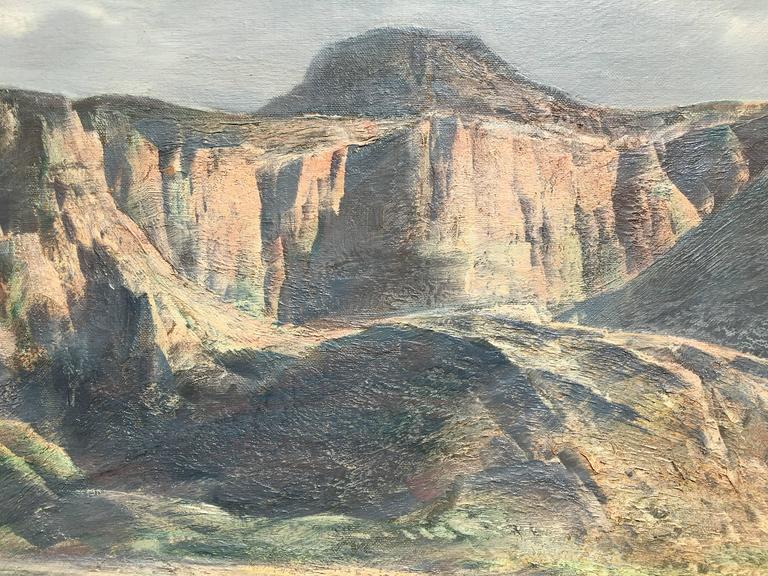 Arizona Mountains - Impressionist Painting by Paul Lauritz