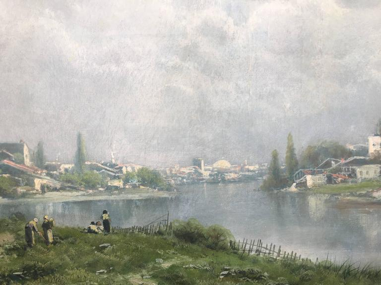 This was one of the works Holdredge (Holdridge) did in France while studying there during the period when his style was changing from the Hudson River School to a more Barbizon style.   Born in New York City in 1836, Ransome Holdredge came to