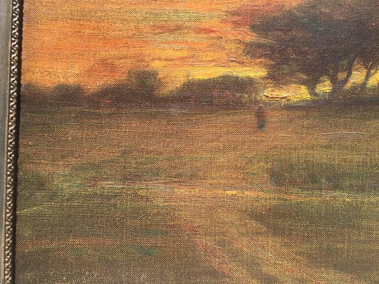 Born on a farm near Newburgh, New York, George Inness had post-Civil War recognition for paintings that were unique in structure and atmosphere and that turned away from the dramatic, panoramic Hudson River School of painting to a quieter, tonalist