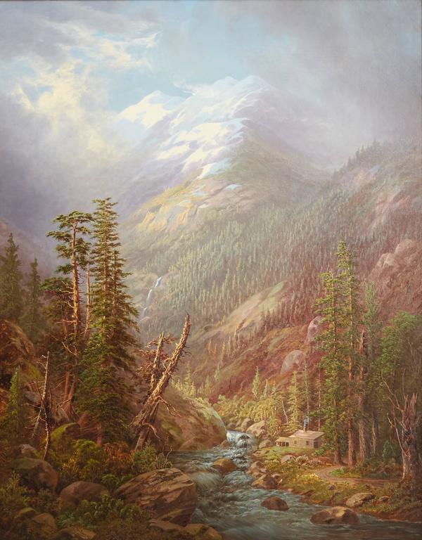 Cabin in the High Sierras - Painting by Frederick A. Butman
