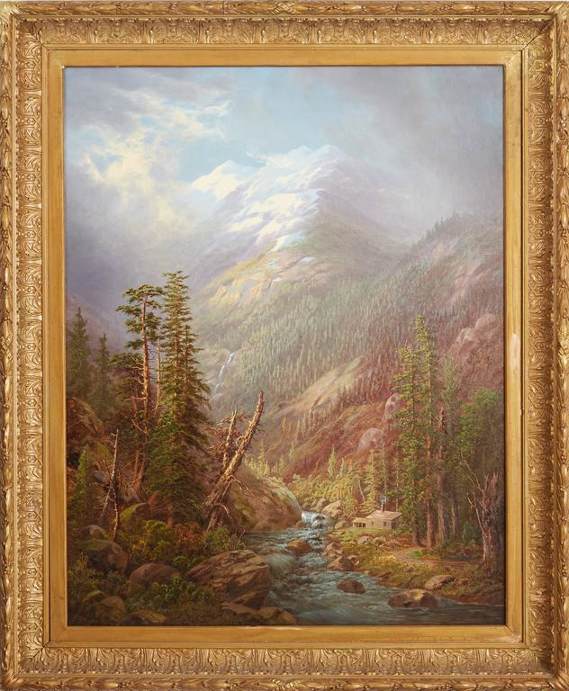 Frederick A. Butman Landscape Painting - Cabin in the High Sierras