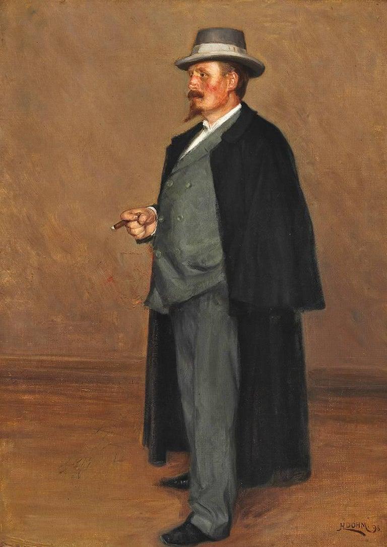 Heinrich Dohm Portrait Painting - Portrait of Danish artist Emmery Rondahl