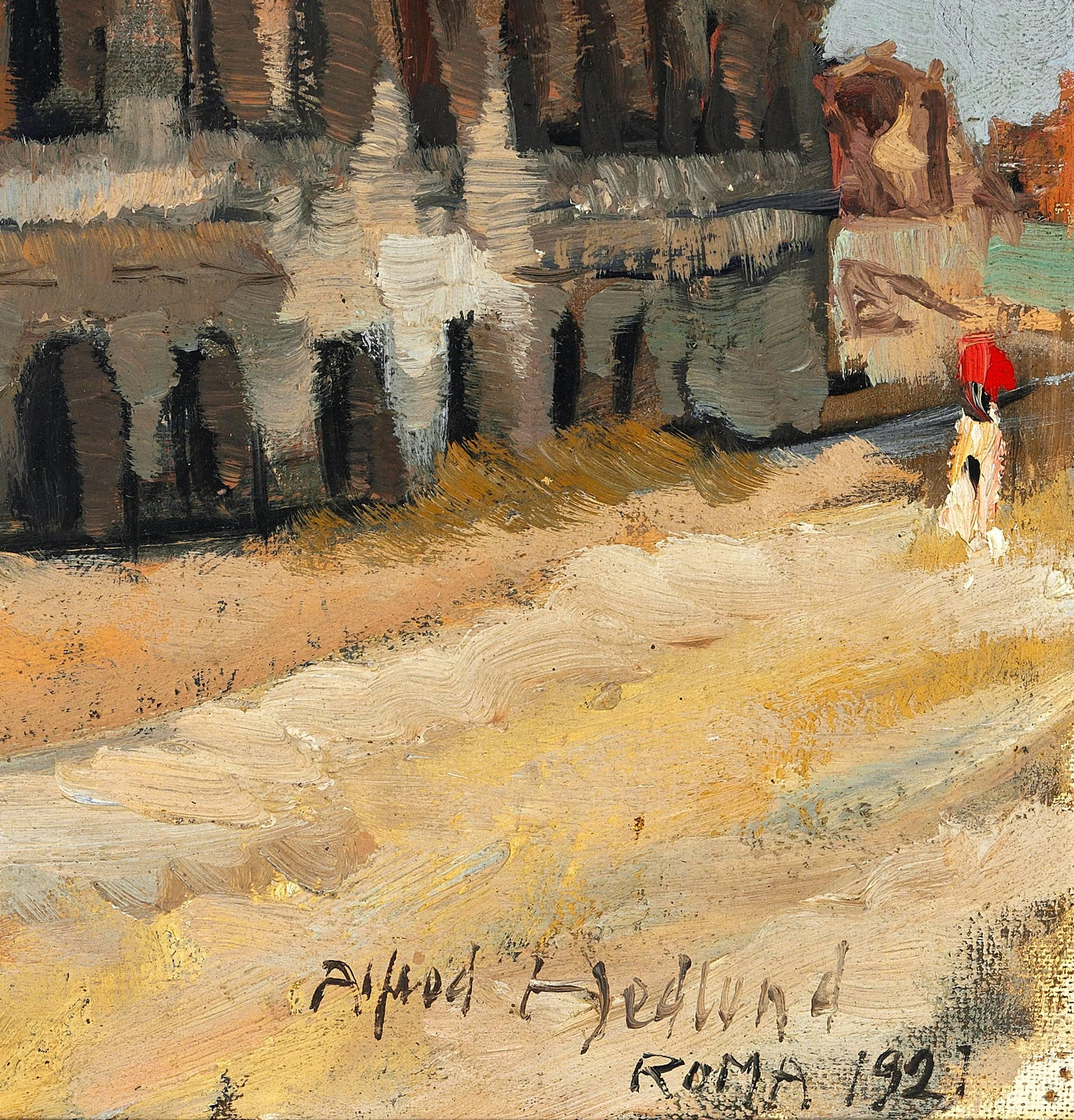 Alfred Hedlund - - The Colosseum in Rome, Painting For Sale at 1stdibs