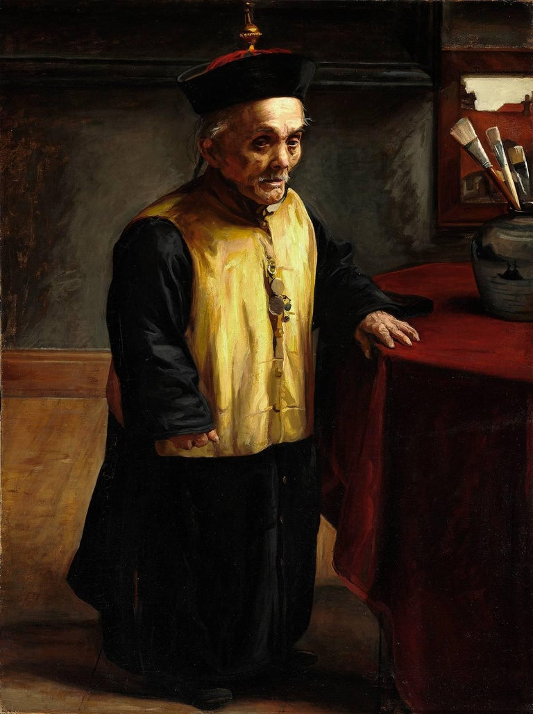 Portrait of the Chinese craftsman and dwarf Tjong Fu'hk Wong Waih