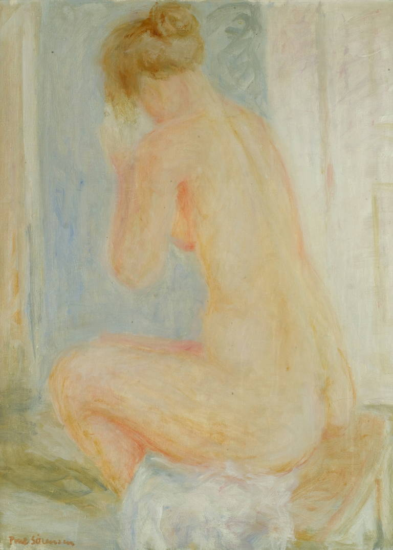 Poul Sørensen Nude Painting - Nude model