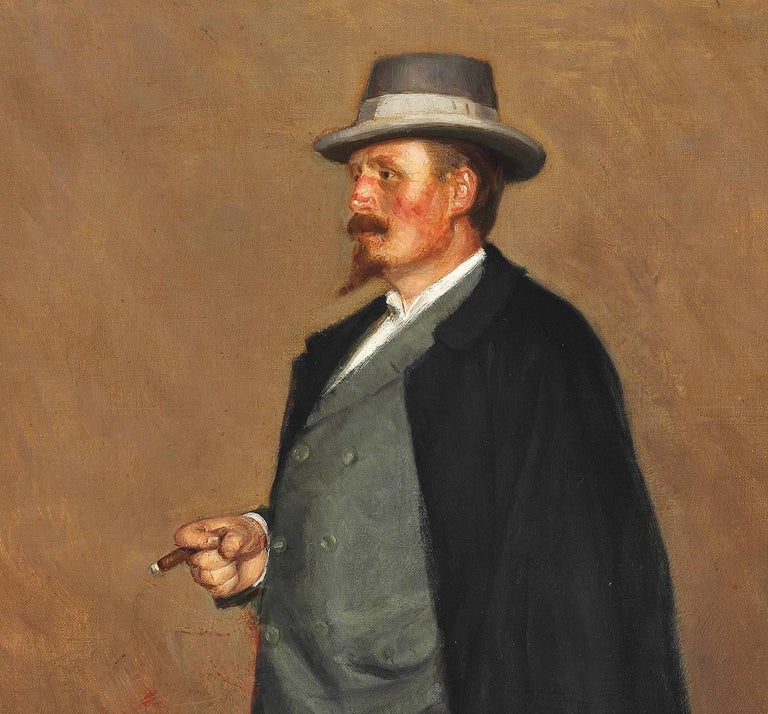 Portrait of Danish artist Emmery Rondahl - Painting by Heinrich Dohm