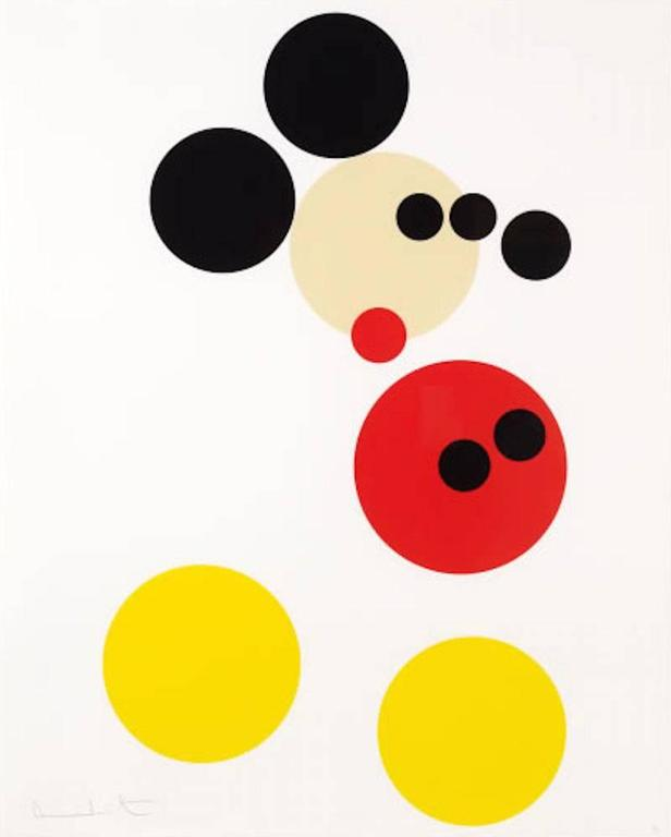 Damien Hirst Mickey Mouse Print At 1stdibs