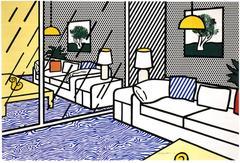 Roy Lichtenstein - Wallpaper With Blue Floor