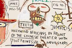 Hollywood Africans in front of the Chinese Theater with Footprints of Movie Star