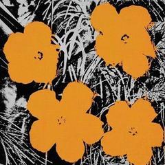 8 Inch Orange Flower Painting