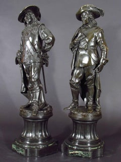 Albert Carrier-Belleuse - Charles I   and Oliver Cromwell