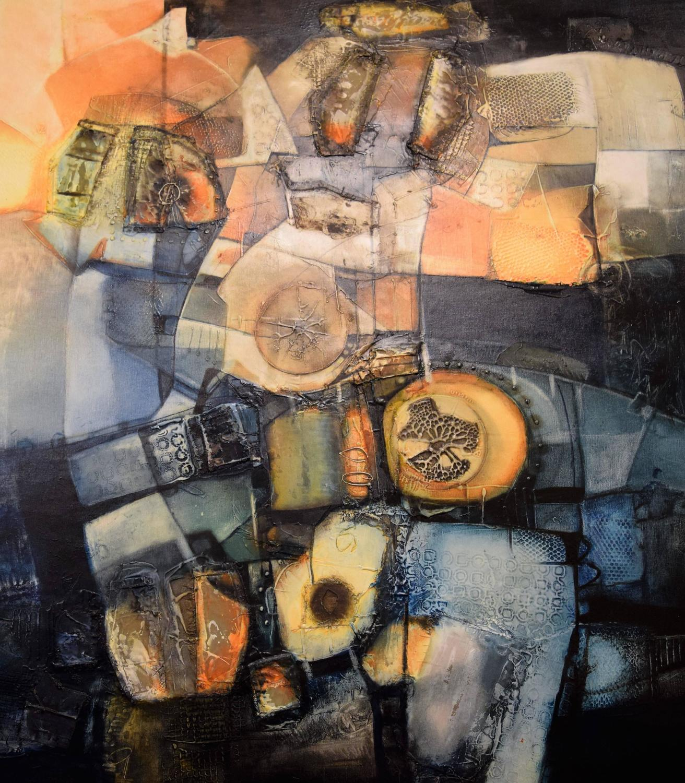 Jose Bruzon Avila Havana Untitled mixed Color Oil and Acrylic on Canvas 47 x 47 22 120 x 120 cm 2015 Listed 50 bo 7000 z