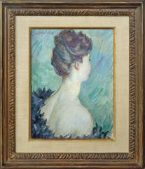 An Elegant Beauty, in side view by Post-Impressionism artist Emile Schneider