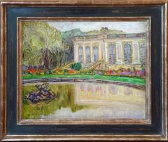 The Grand Trianon, Versailles, by french post-impressionism artist Leon Detroy