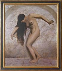 Marcel Rene Herrfeldt - The Slave Girl, masterpiece by Paris born german artist Marcel René Herrfeldt