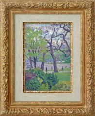Paris view of Jardin du Luxembourg, by Post-Impressionism artist Hayet