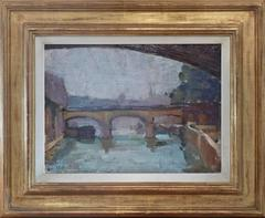 Paris View with Bridges at Isle de France, by french female artist Brunswig