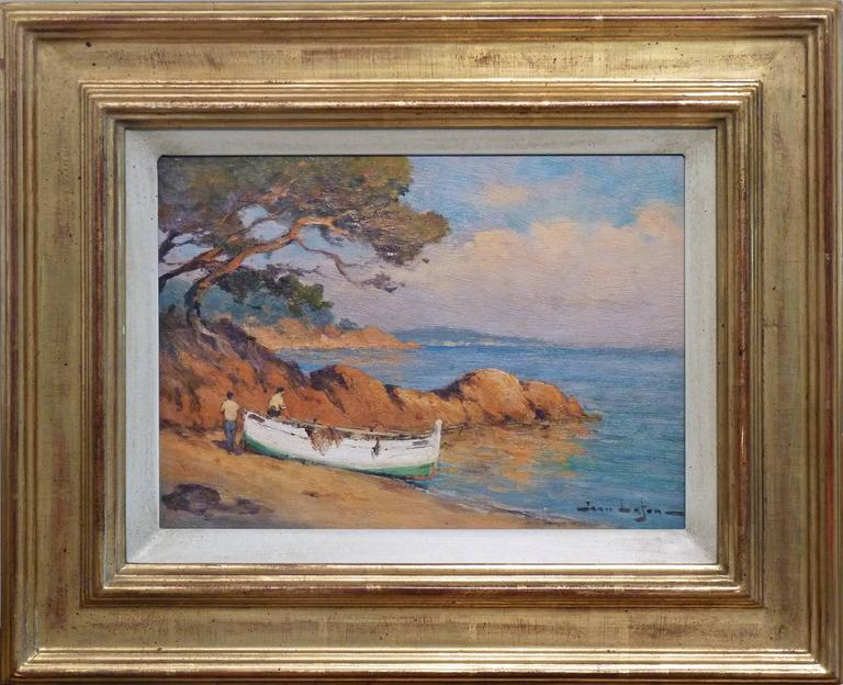 Landscape near by Hyeres at the French Riviera, oil painting by listed artist