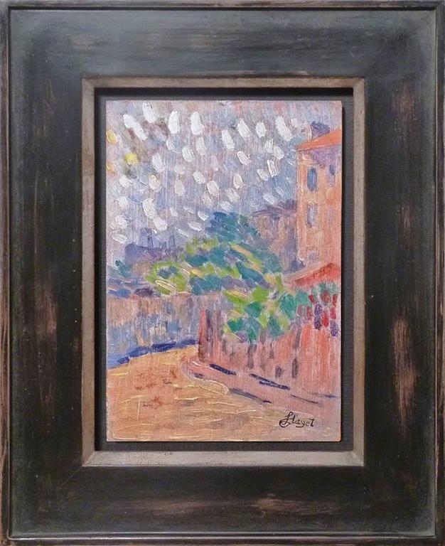 Neo Impressionism Artists: A Lane, Presumably Paris View, Neo