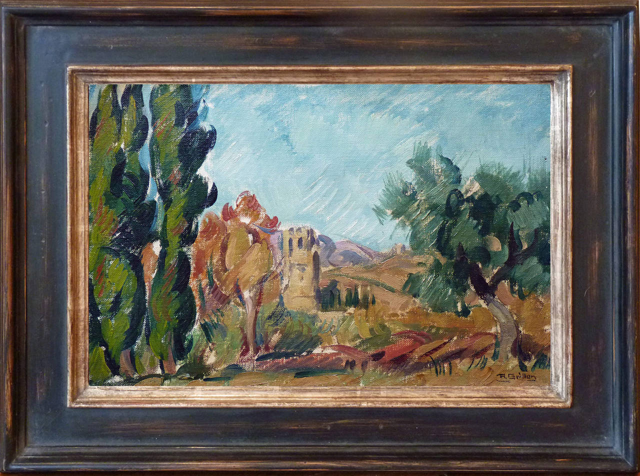 Roger Grillon Mediterranean Landscape Oilpainting By