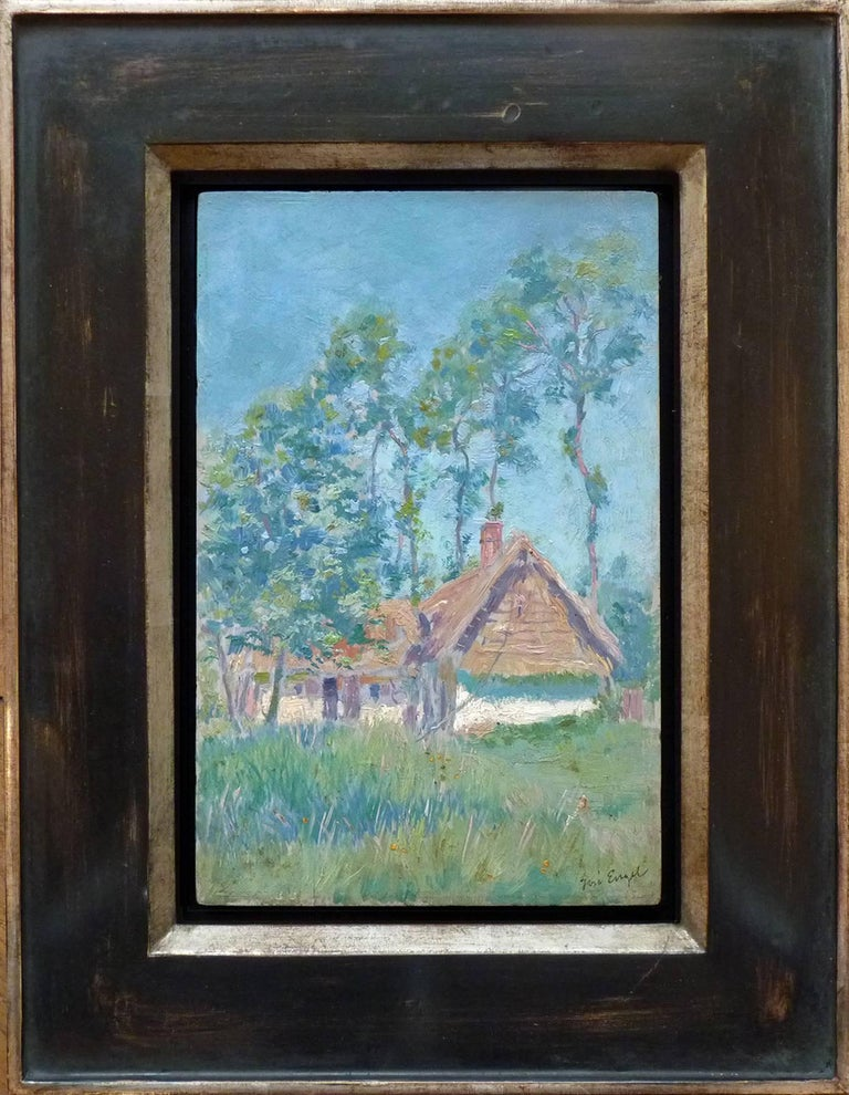 The Leroux Farm, c.1905, Atmospheric Oil Painting by French Artist Engel-Garry