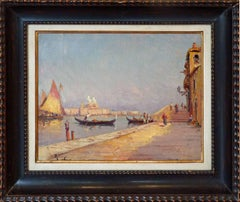Venice View, Post-impressionist Oil Painting by French Artist Vincent Manago