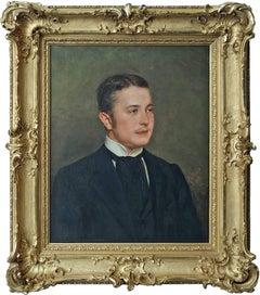 Count Carl August Graf von Schaumburg zu Lehrbach born 1878, Oil Portrait