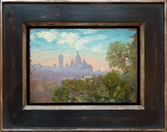 Paris Montmartre view with Sacré-Cœur, by french Eugéne Damblans