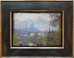 View of Sacré-Cœur, Montmartre, Paris. Oilpainting by french artist Damblans