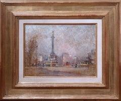 Place de la Bastille, Paris view oil painting by Post-impressionism artist Levis