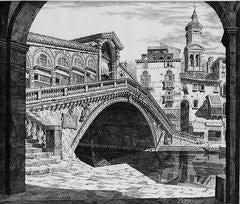 Shadows of Venice or Il Ponte Di Rialto, Venezia