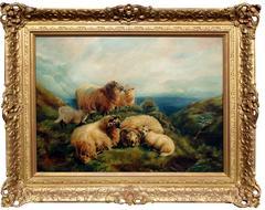 Highland Scene with Sheep