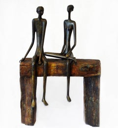 Couple on the Wooden Bench