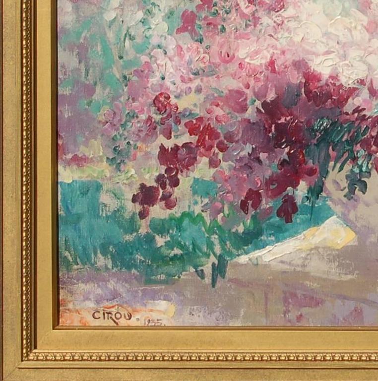 paul cirou un bouquet de fleurs painting for sale at. Black Bedroom Furniture Sets. Home Design Ideas