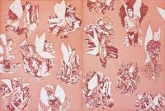 """Revised Endpapers for """"The Homosexual Neurosis"""" (Pink)"""