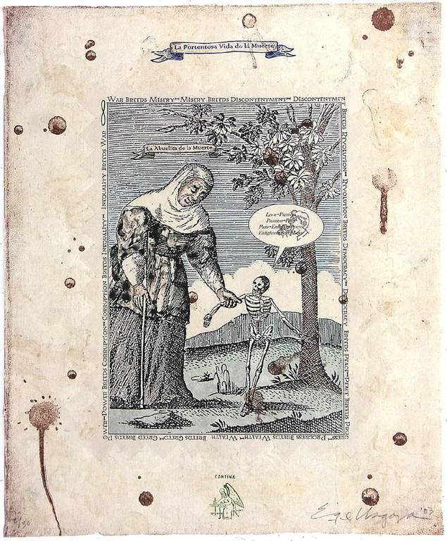Enrique chagoya la portentosa vida de la muerte print for Portent of item protection