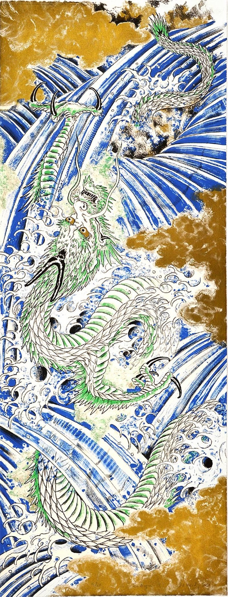 Don Ed Hardy Print - Sea Dragon