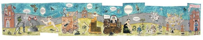 Enrique Chagoya Print - Histoire Naturelle des Espécies: Illegal Alien's Manuscript