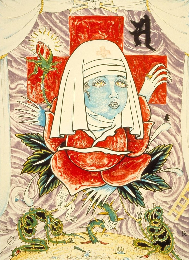 Don Ed Hardy Print - Nurse Mercy