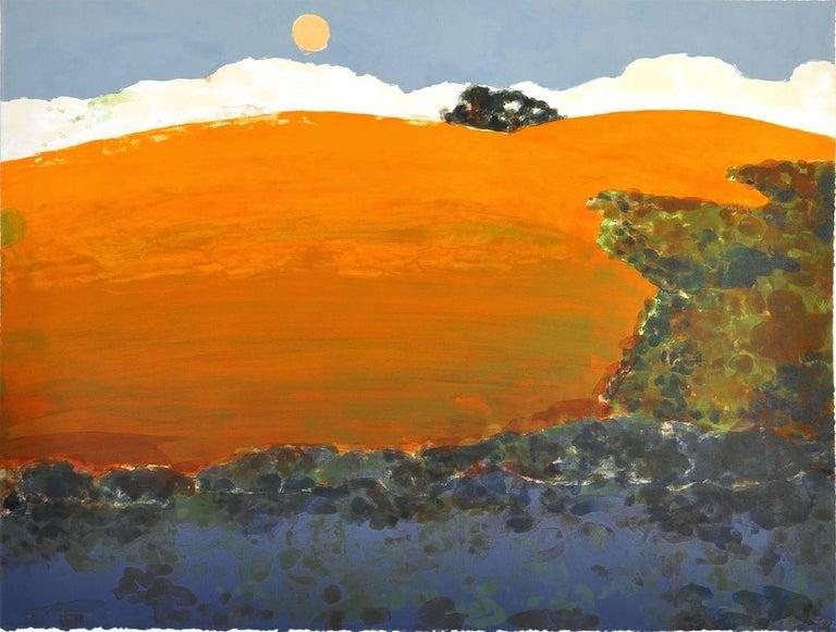 Susan Hall Print - As the Moon Rises
