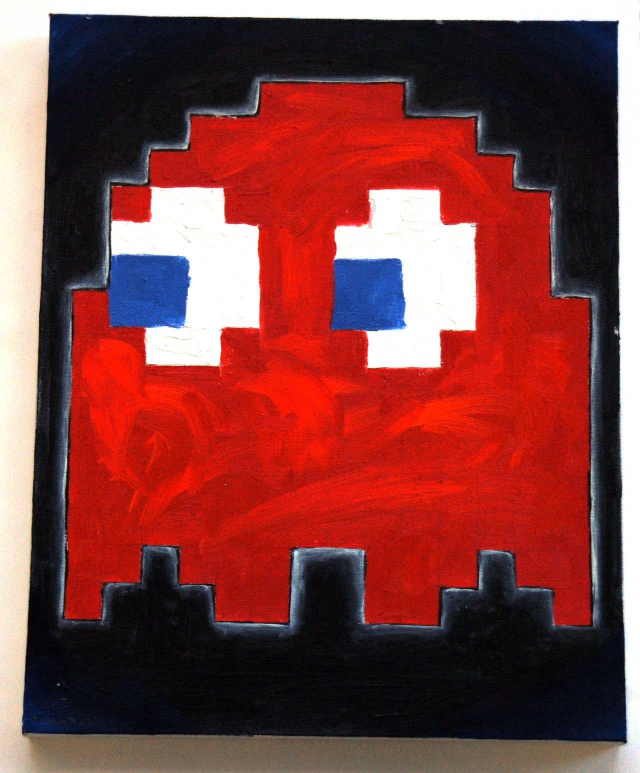 Pac-Man Ghosts (set of 4) - Contemporary Painting by Patrick Lichty