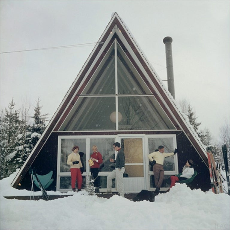 Slim Aarons Figurative Photograph - On The Slopes In Stowe (Aarons Estate Edition)