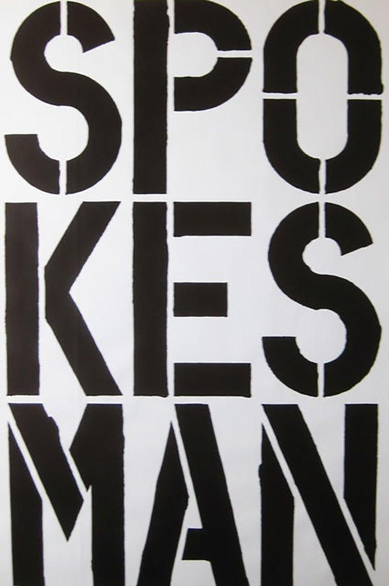Spokesman, 1989, by Christopher Wool