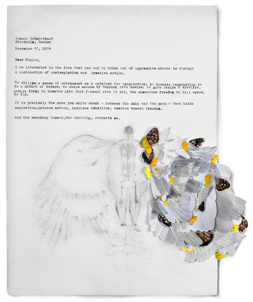 Joanne Grune-Yanoff Figurative Art - November Letter, JGY-MLM