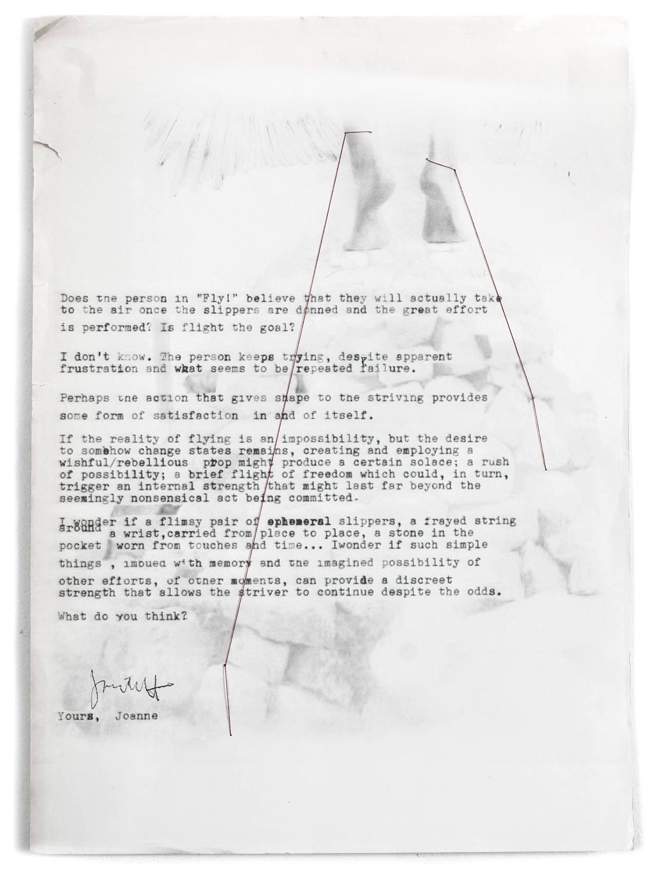 November Letter, JGY-MLM - Art by Joanne Grune-Yanoff