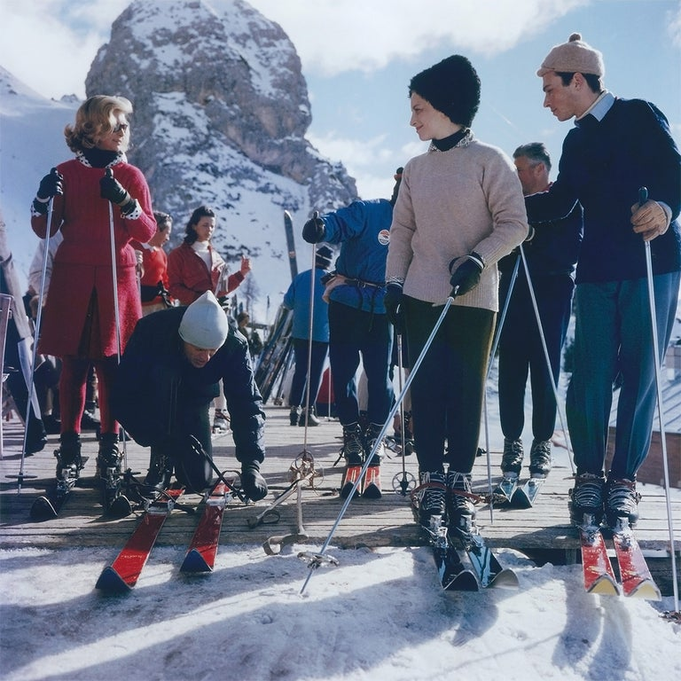 Slim Aarons Color Photograph - Cortina D'Ampezzo (Aarons Estate Edition)