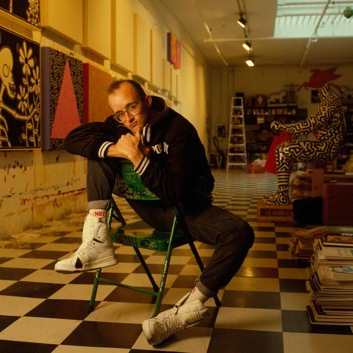 William Coupon Portrait Photograph - Keith Haring